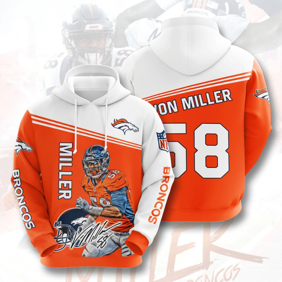 Denver Broncos No570 Custom Hoodie 3D