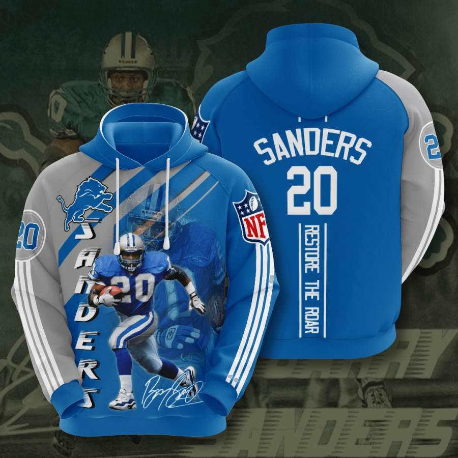 Detroit Lions No582 Custom Hoodie 3D