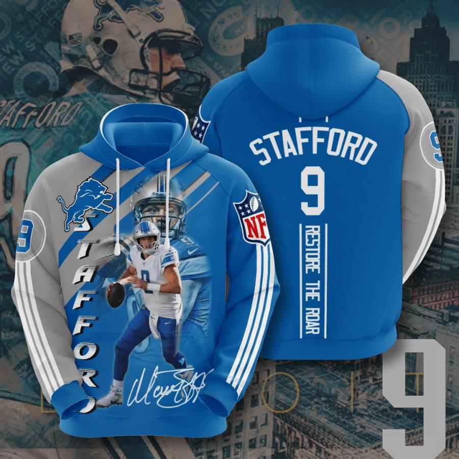 Detroit Lions No585 Custom Hoodie 3D