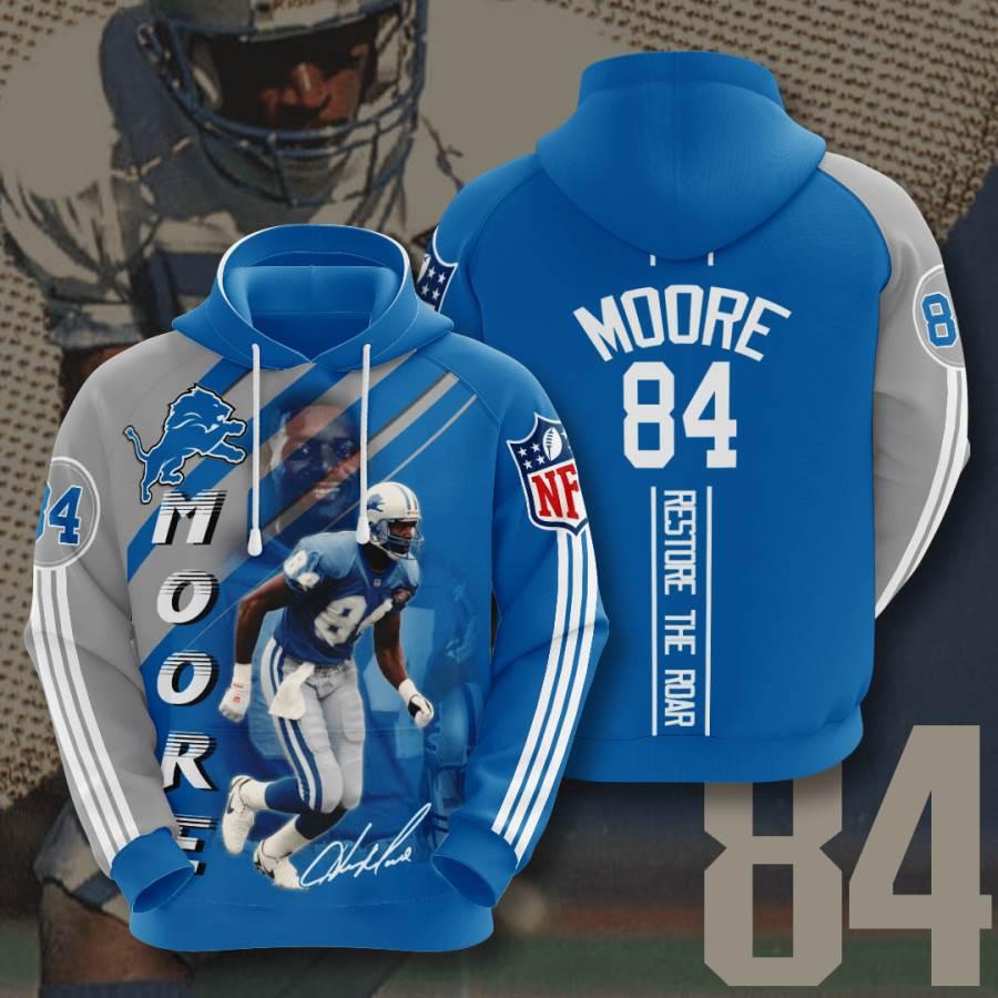 Detroit Lions No588 Custom Hoodie 3D