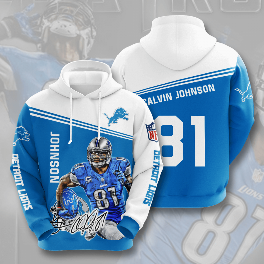 Detroit Lions No598 Custom Hoodie 3D
