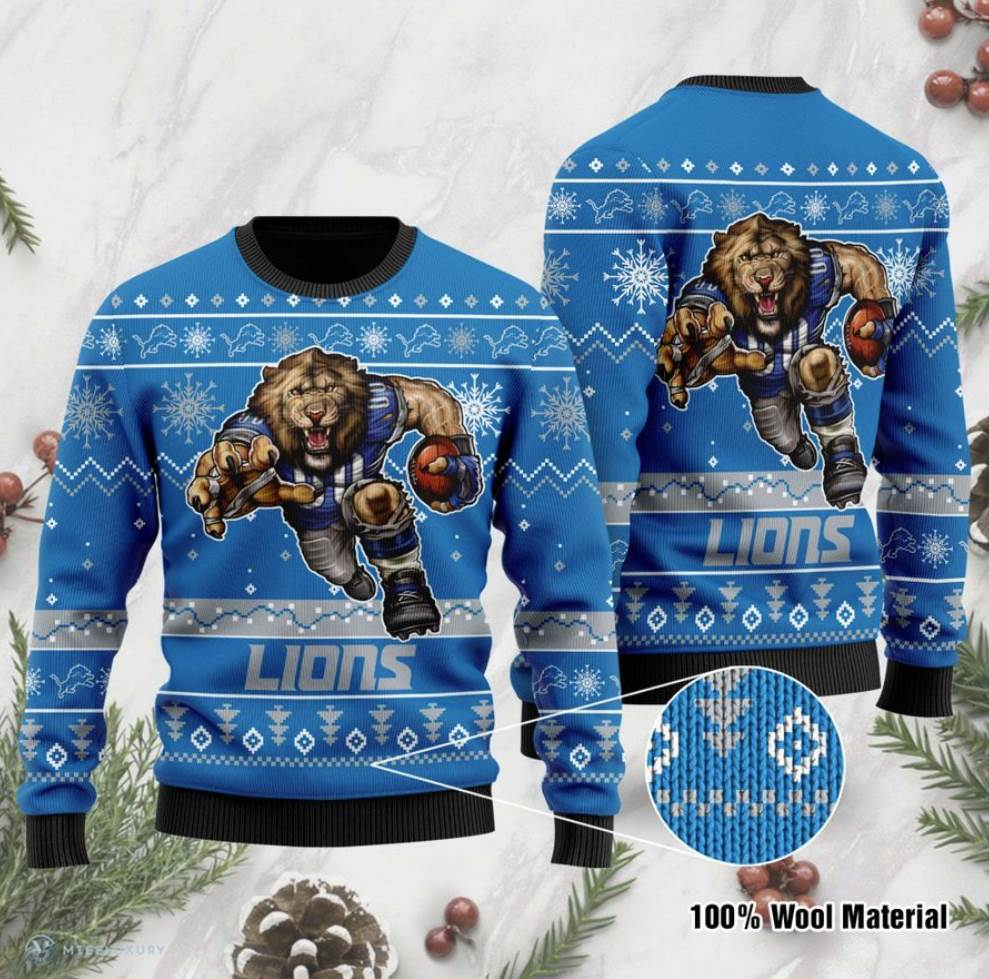 Detroit Lions Ugly Sweater