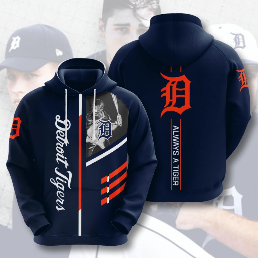 Detroit Tigers No606 Custom Hoodie 3D