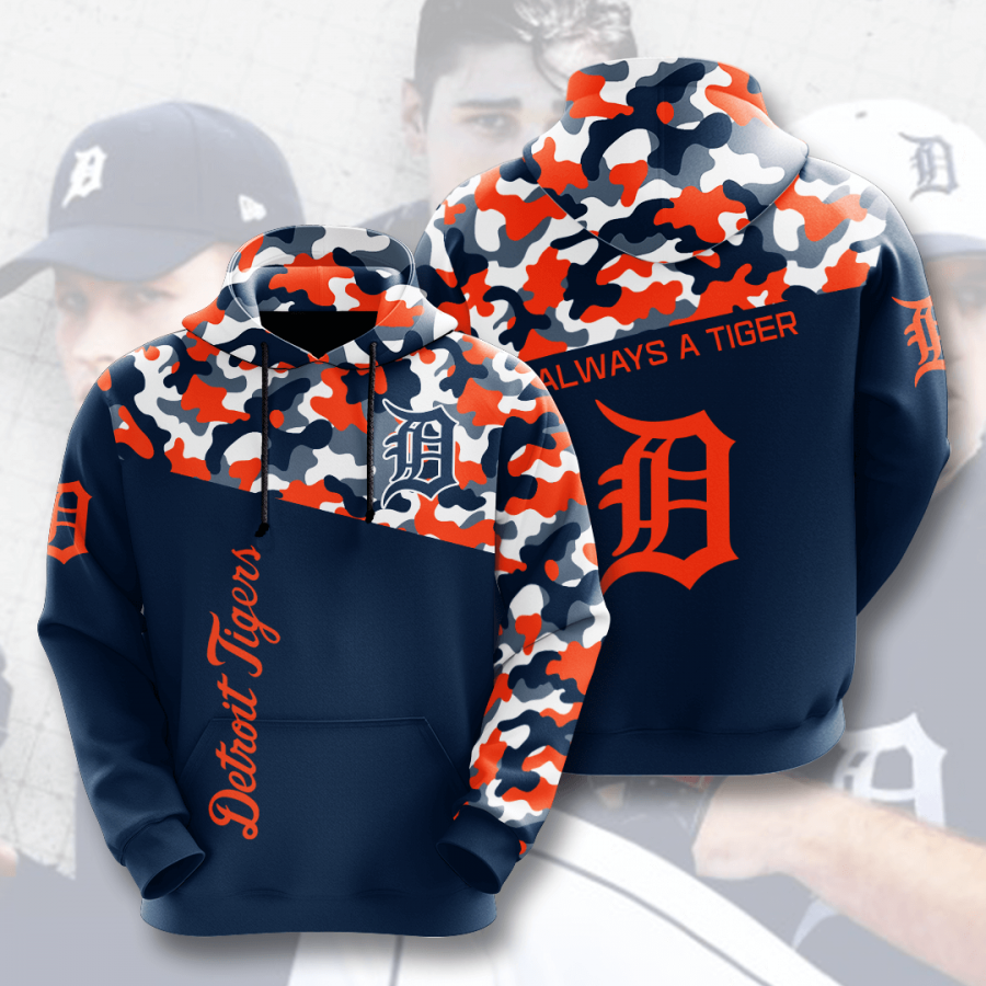 Detroit Tigers No611 Custom Hoodie 3D