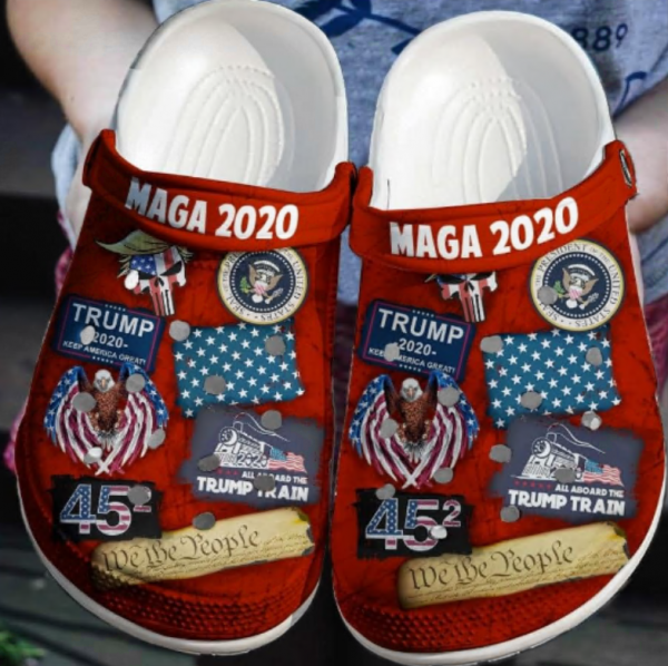 Donald Trump Maga 2020 Crocs Clog Shoes