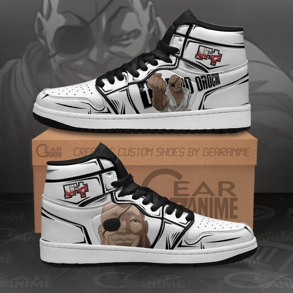 Doppo Orochi Sneakers Baki Custom Anime Air Jordan Shoes