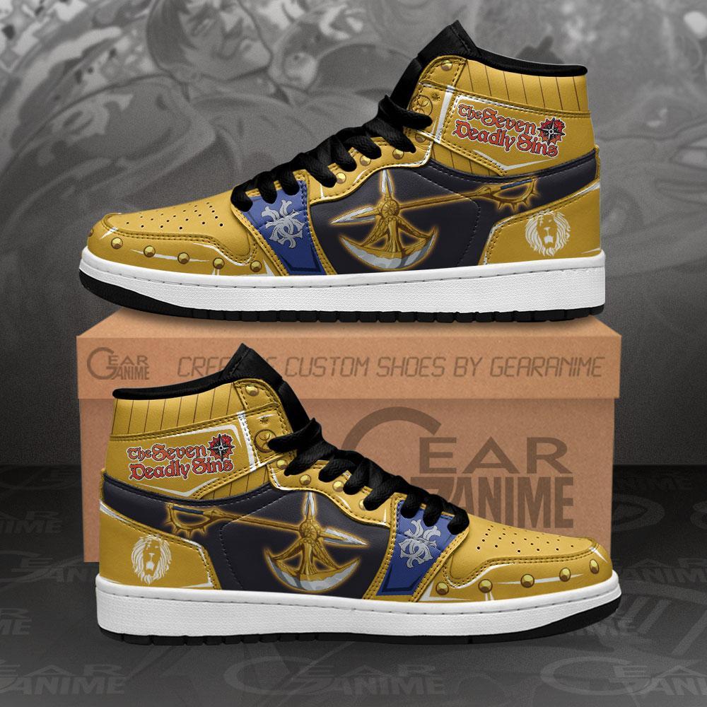 Escanor Divine Axe Rhitta Sneakers Seven Deadly Sins Anime Air Jordan Shoes