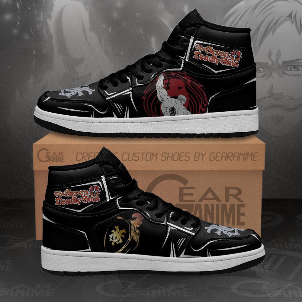 Escanor Sneakers Lion's Sin Of Pride Anime Air Jordan Shoes