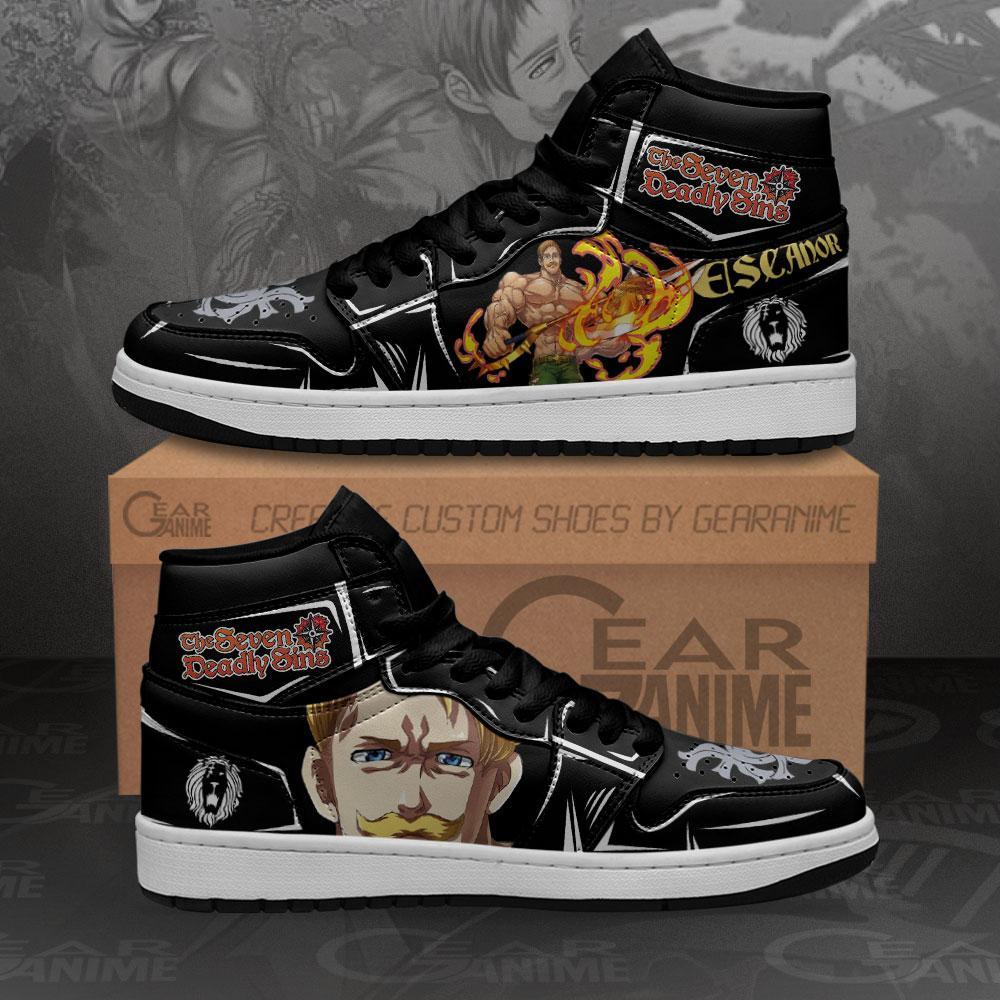 Escanor Sneakers Seven Deadly Sins Custom Anime Air Jordan Shoes