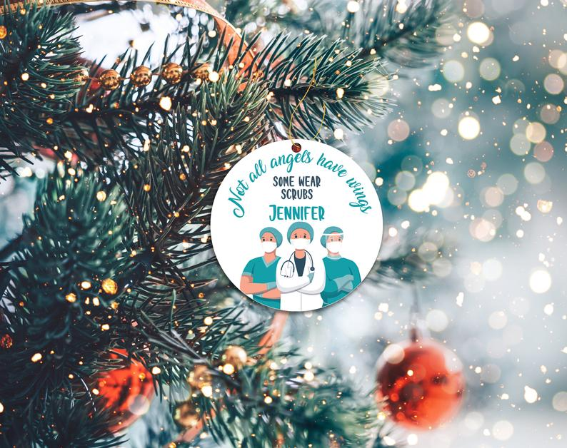 Essential Workers Ornament Medical Doctor Nurse Custom Personalized Holiday Ornaments Personalized Gifts