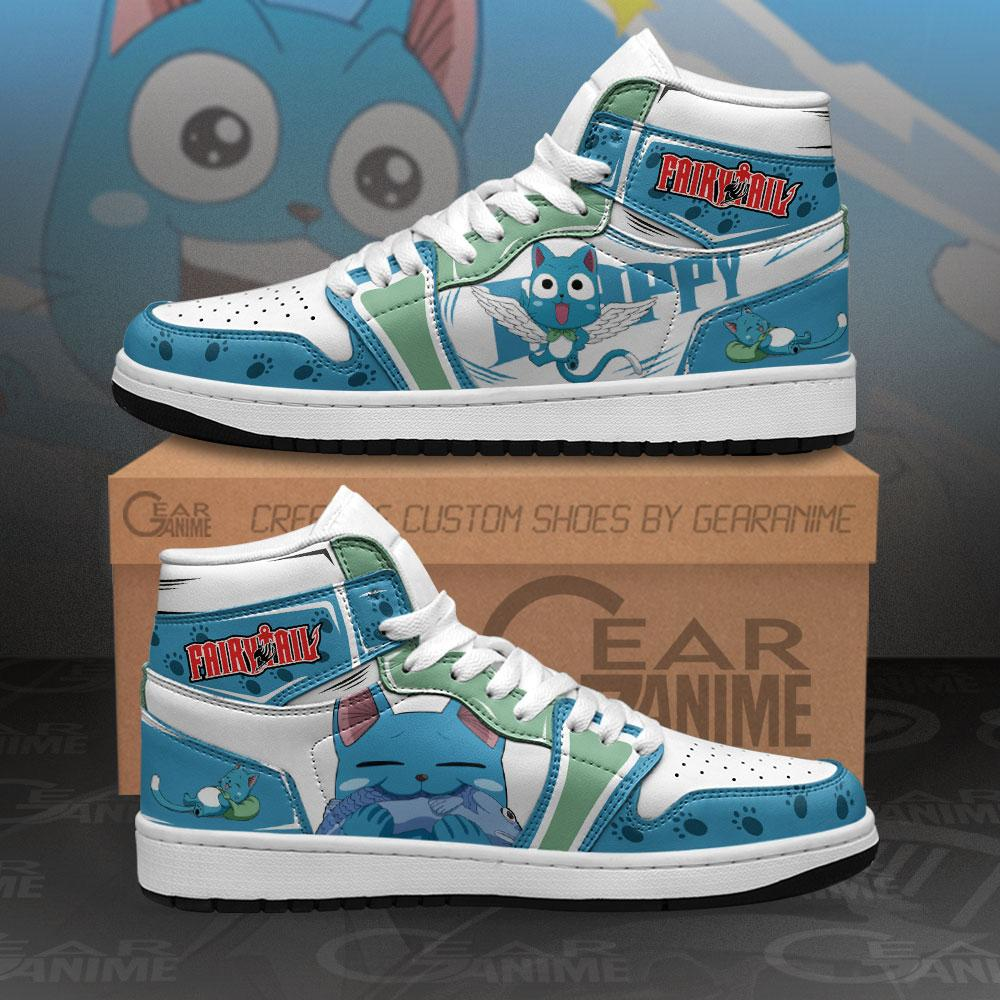 Fairy Tail Happy Sneakers Custom Anime Air Jordan Shoes