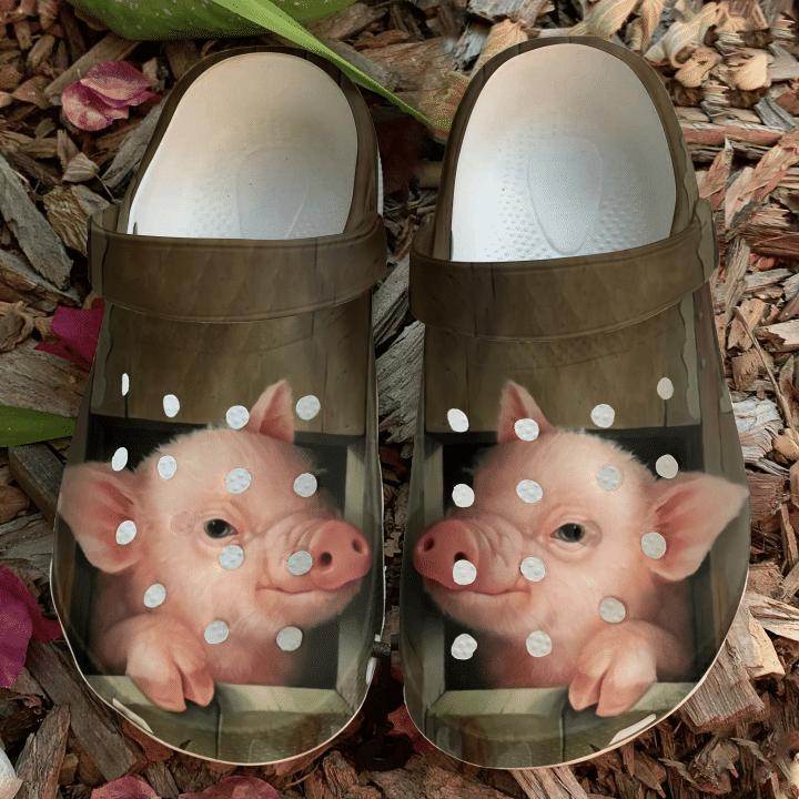 Farmer A Cute Pig Sku 975 Crocs Clog Shoes