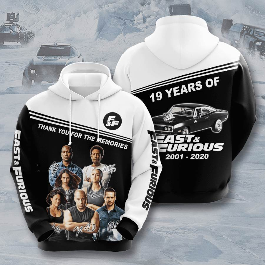 Fast And Furious No644 Custom Hoodie 3D
