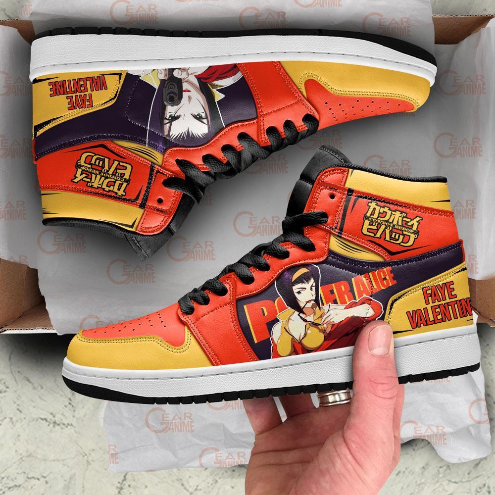 Faye Valentine Sneakers Cowboy Bebop Anime Custom Air Jordan Shoes