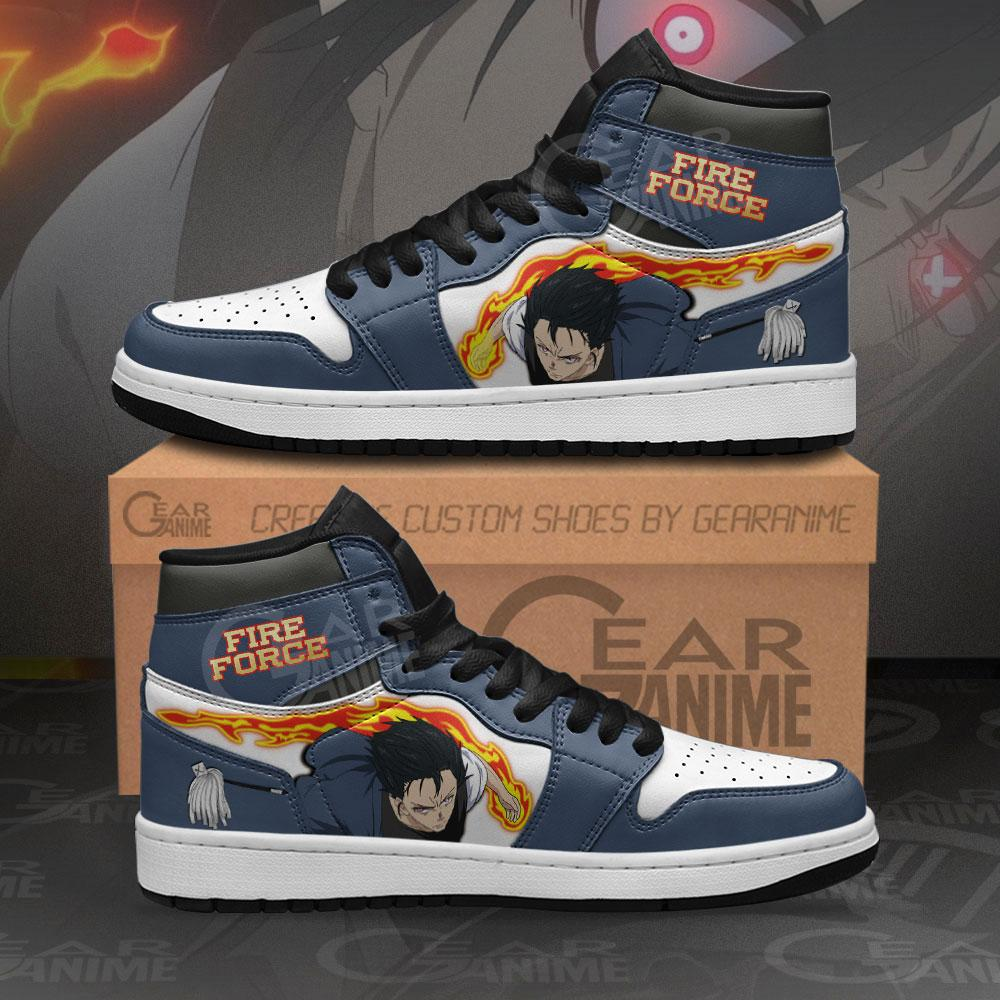 Fire Force Benimaru Shinmon Sneakers Custom Anime Air Jordan Shoes