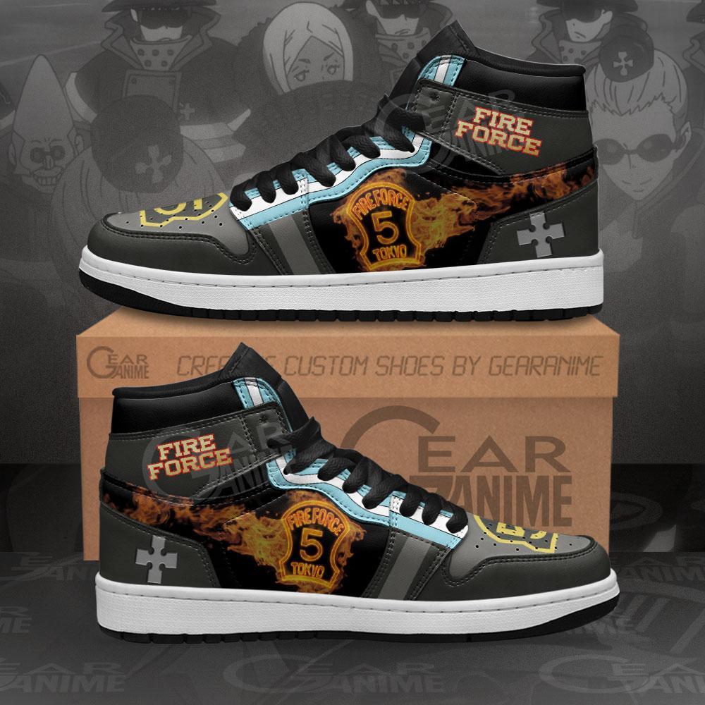 Fire Force Company 5 Sneakers Custom Anime Air Jordan Shoes
