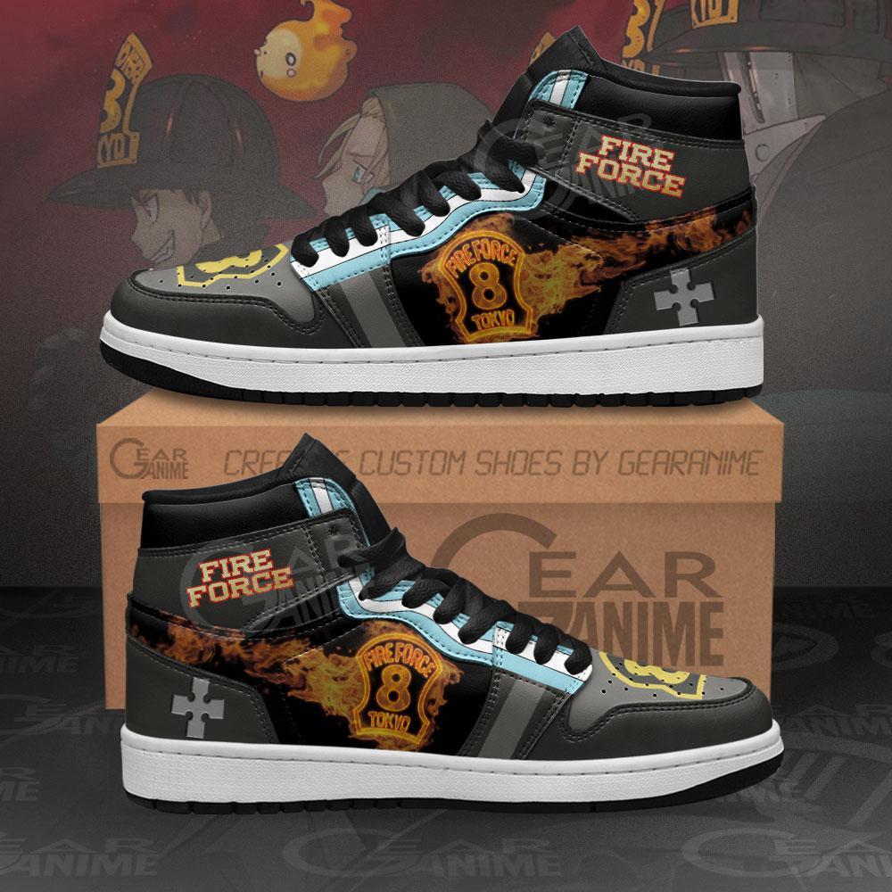 Fire Force Company 8 Sneakers Custom Anime Air Jordan Shoes
