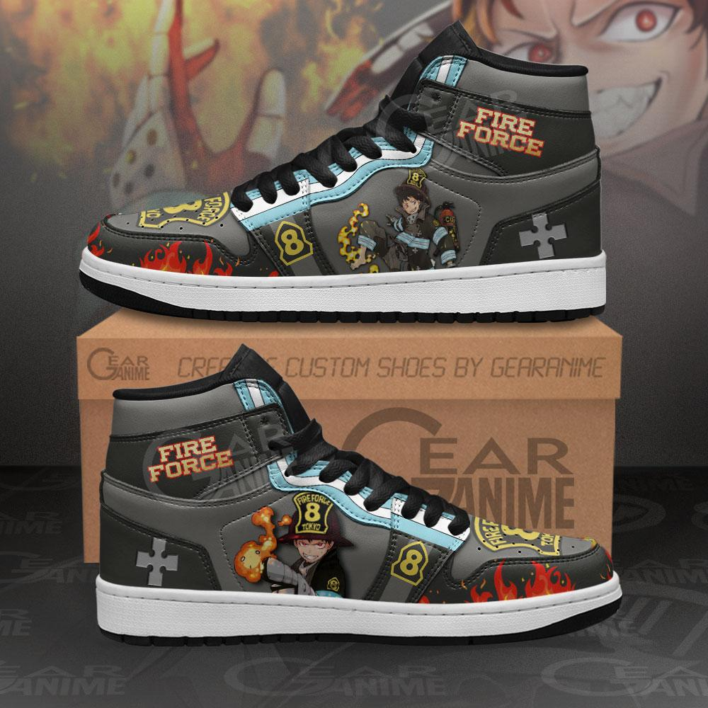 Fire Force Shinra Kusakabe Sneakers Custom Anime Air Jordan Shoes