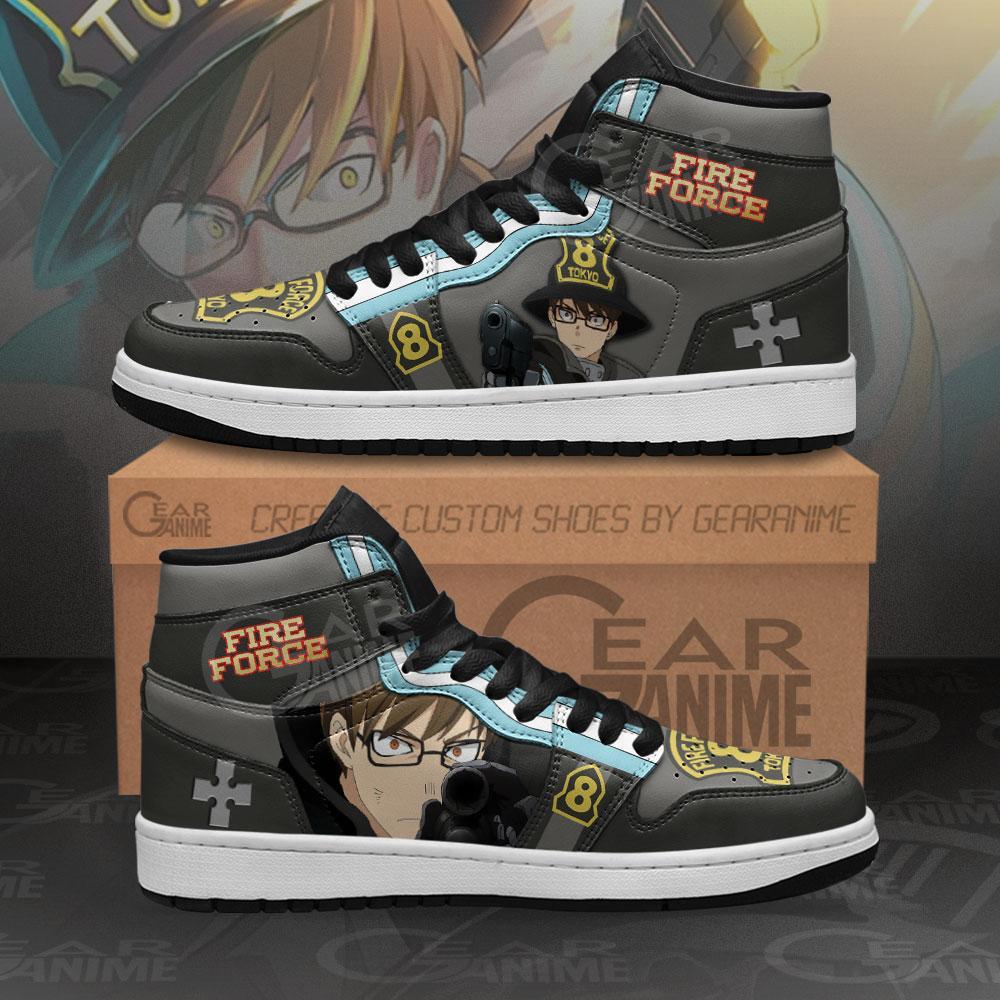 Fire Force Takehisa Hinawa Sneakers Custom Anime Air Jordan Shoes