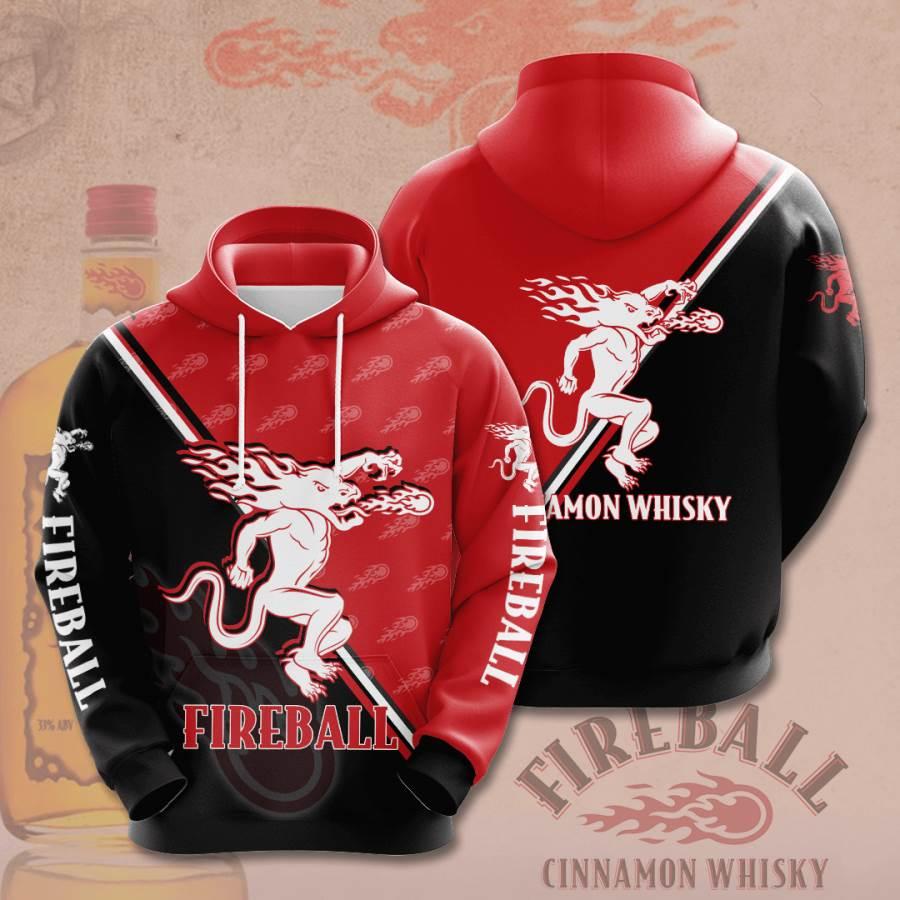 Fireball Cinnamon Whisky No646 Custom Hoodie 3D
