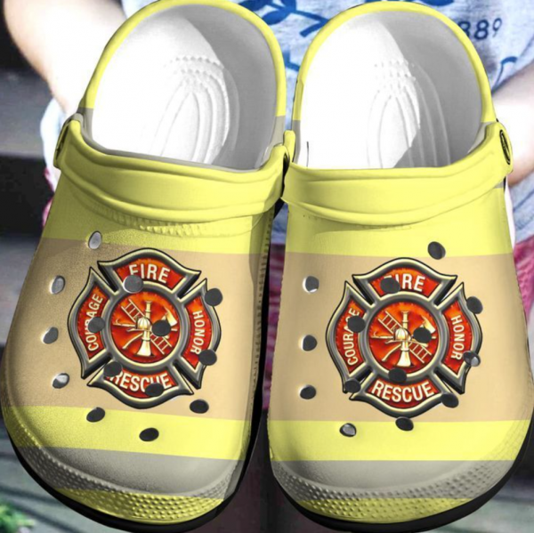 Firefighter Crocs Clog Shoes