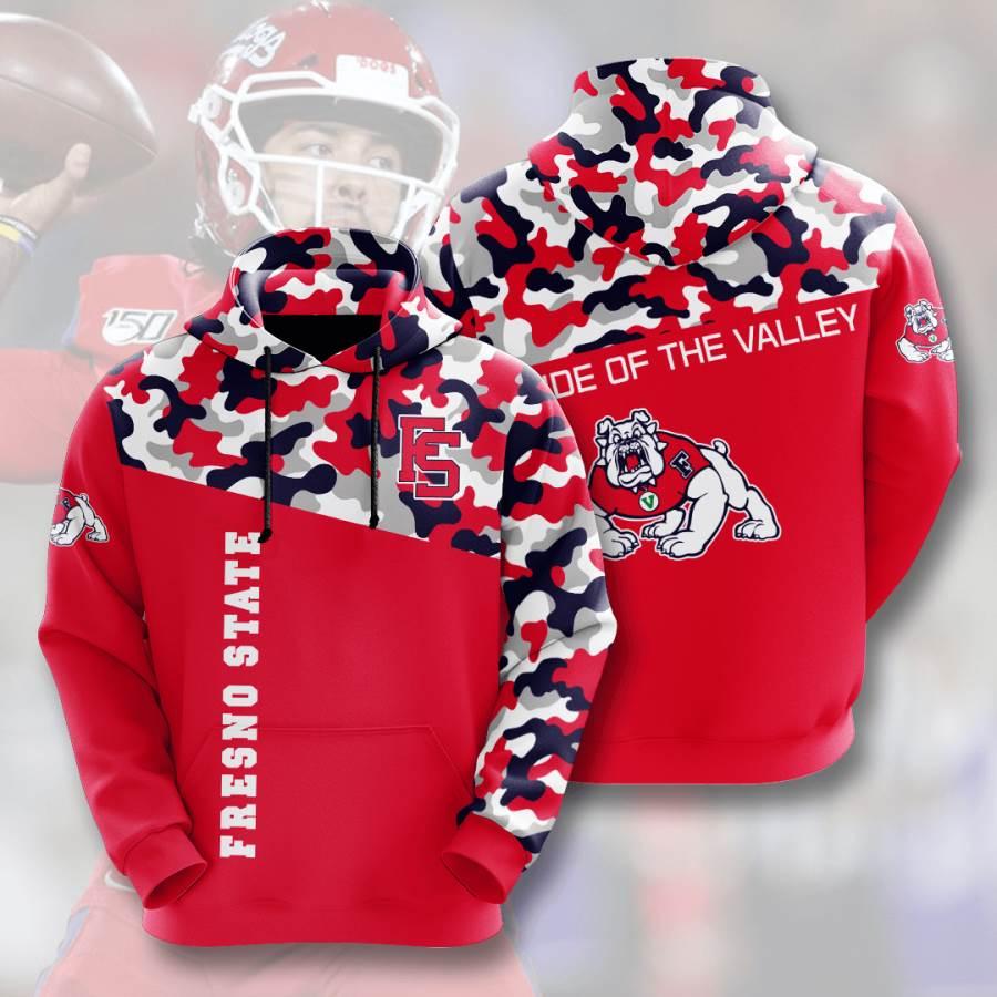 Fresno State Bulldogs No681 Custom Hoodie 3D
