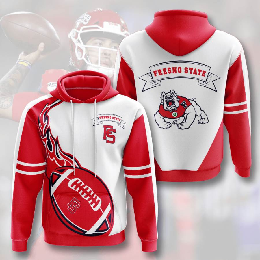 Fresno State Bulldogs No682 Custom Hoodie 3D