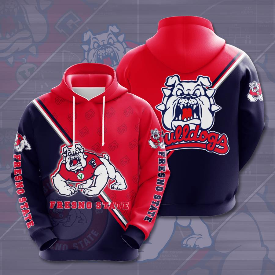 Fresno State Bulldogs No683 Custom Hoodie 3D
