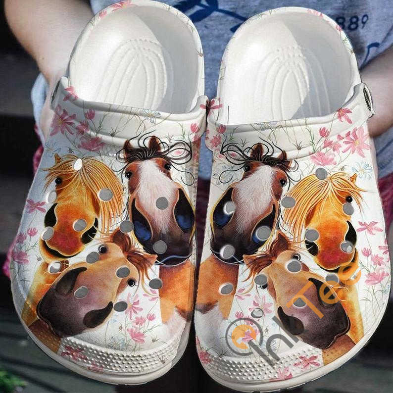 Funny Horse No 289 Crocs Clog Shoes