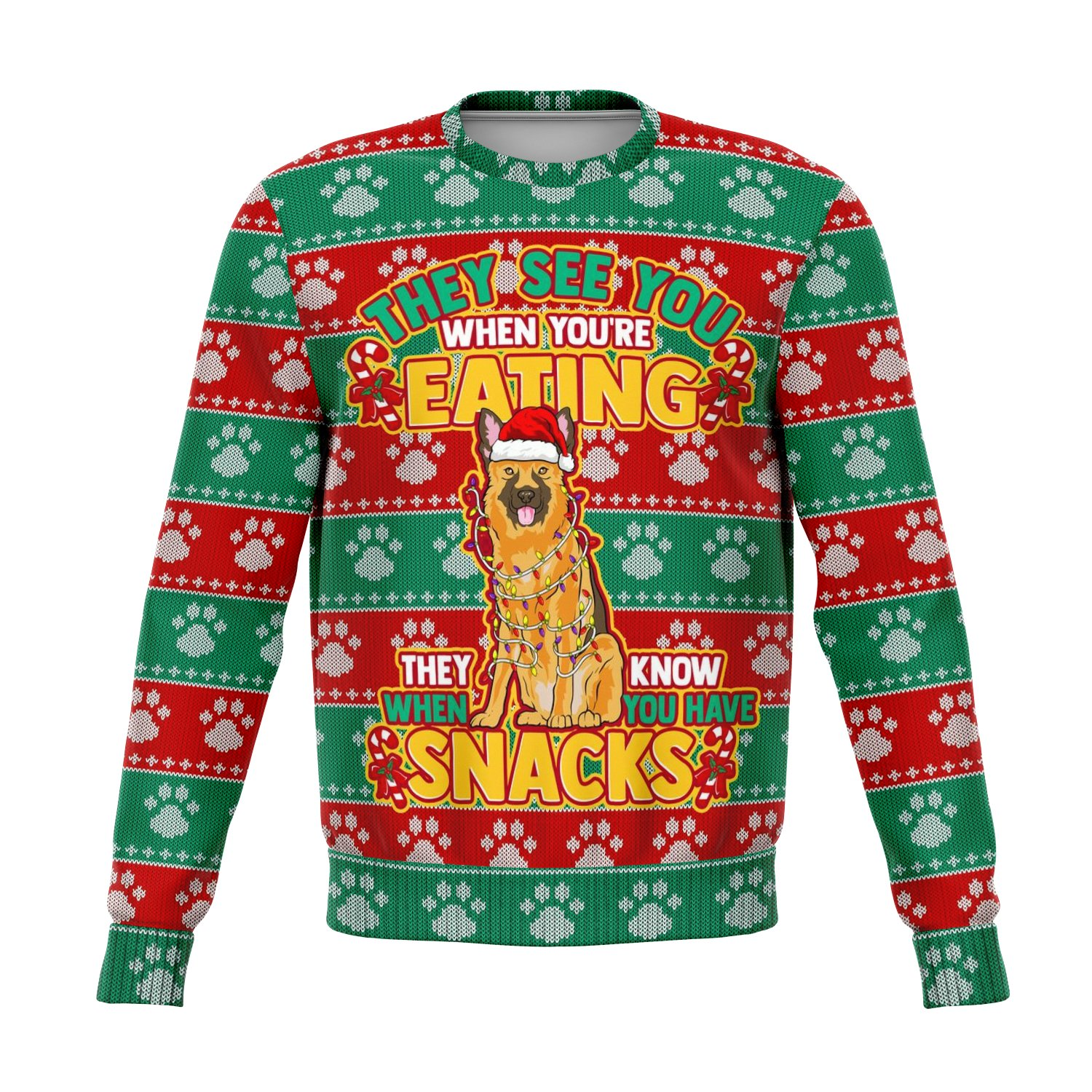 Funny They See You When Your Eating Ugly Sweater