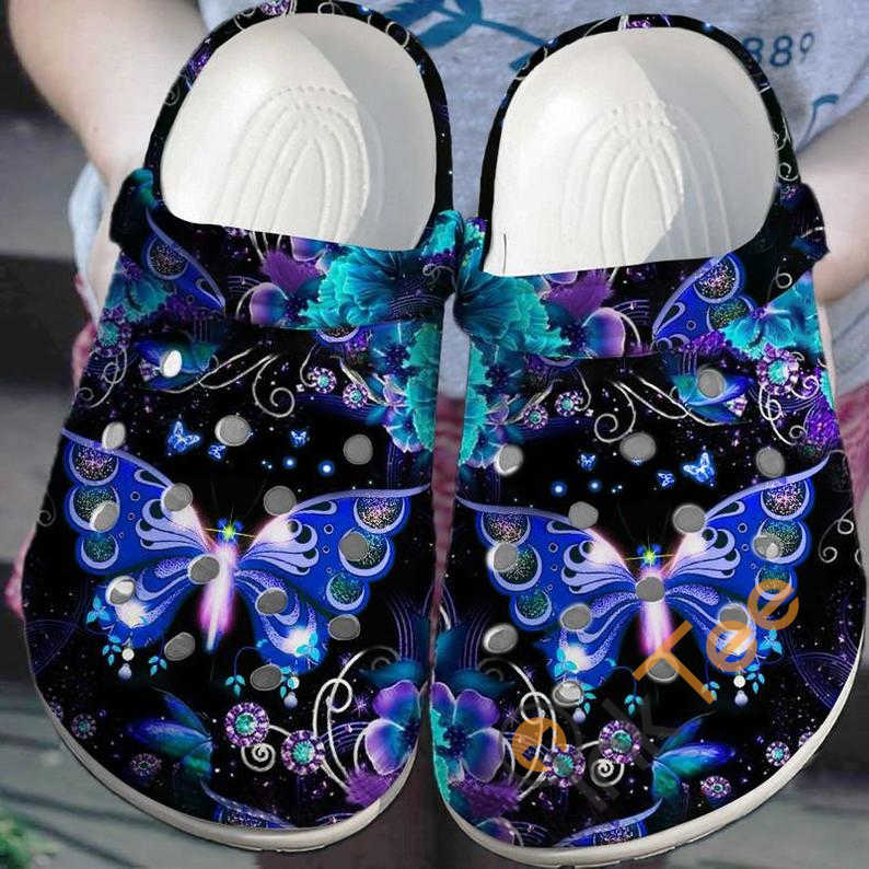 Galaxy Butterfly Crocs Clog Shoes