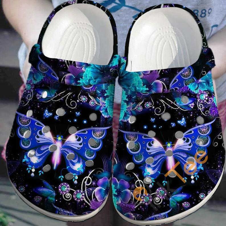 Galaxy Butterfly Crocs Clog Shoes