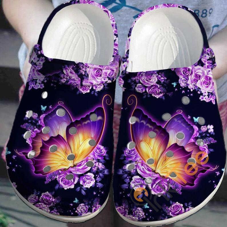 Galaxy Butterfly No 289 Crocs Clog Shoes