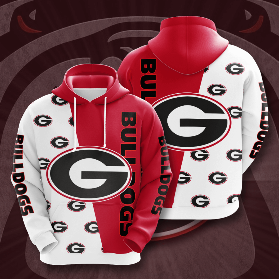 Georgia Bulldogs No700 Custom Hoodie 3D