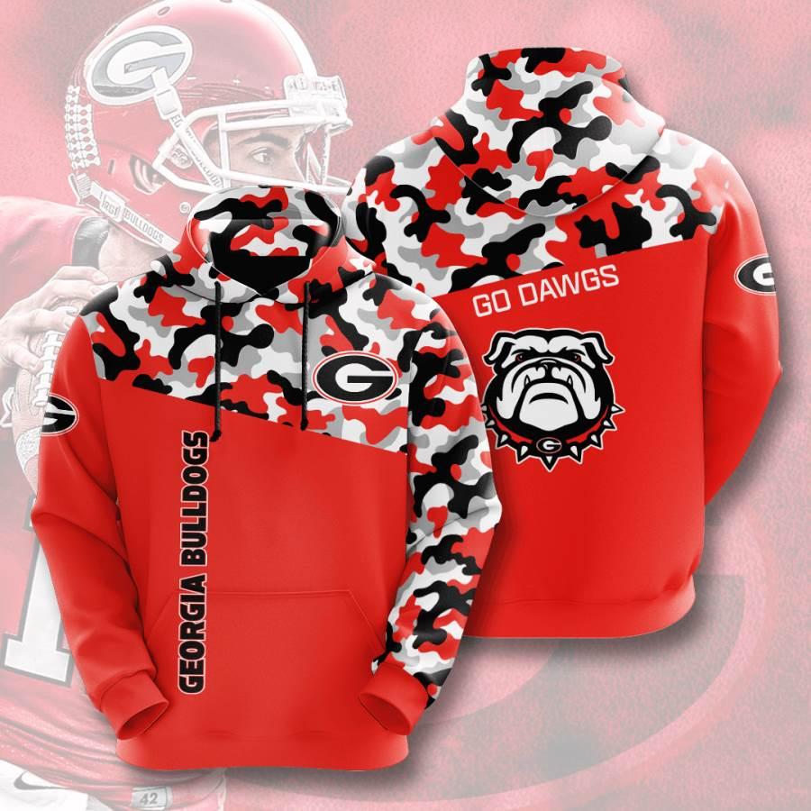 Georgia Bulldogs No702 Custom Hoodie 3D