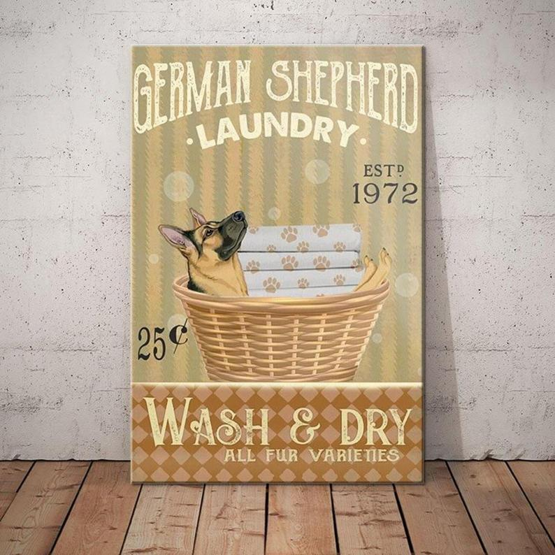 German Shepherd Dog Laundry Poster