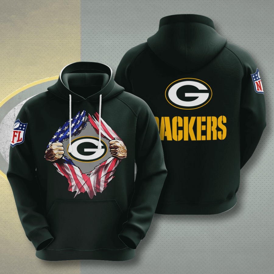 Green Bay Packers No713 Custom Hoodie 3D