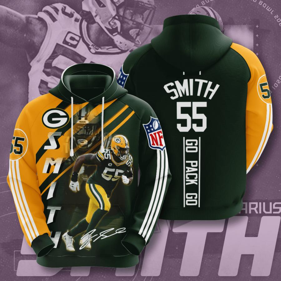 Green Bay Packers No722 Custom Hoodie 3D