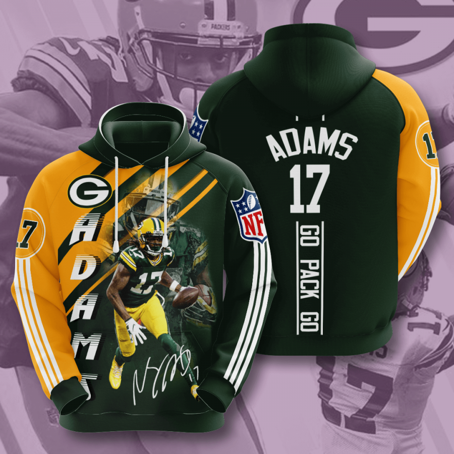Green Bay Packers No723 Custom Hoodie 3D