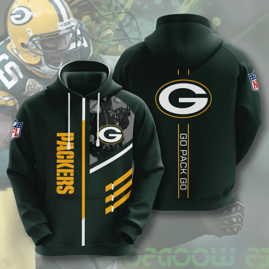 Green Bay Packers No724 Custom Hoodie 3D