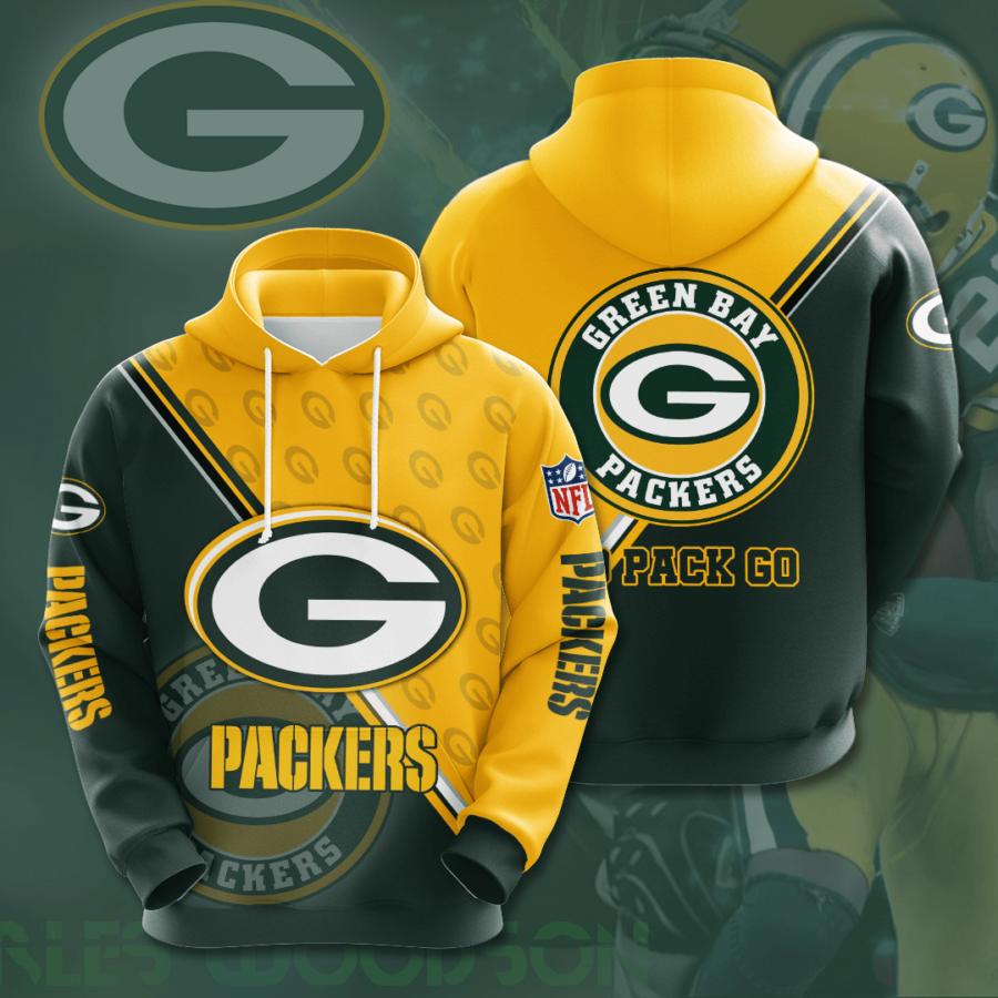Green Bay Packers No725 Custom Hoodie 3D