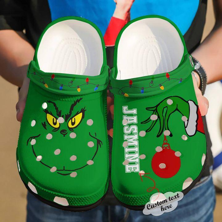 Grinch Christmas Crocs Clog Shoes