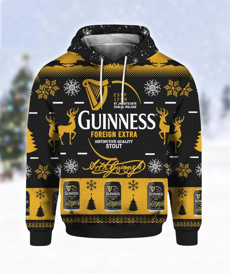 Guinness Foreign Extra Stout Ugly Sweater