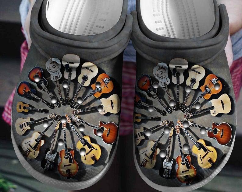 Guitar Lover Crocs Clog Shoes