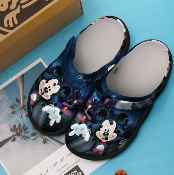 Halloween Mickey Mouse Vampire Crocs Clog Shoes