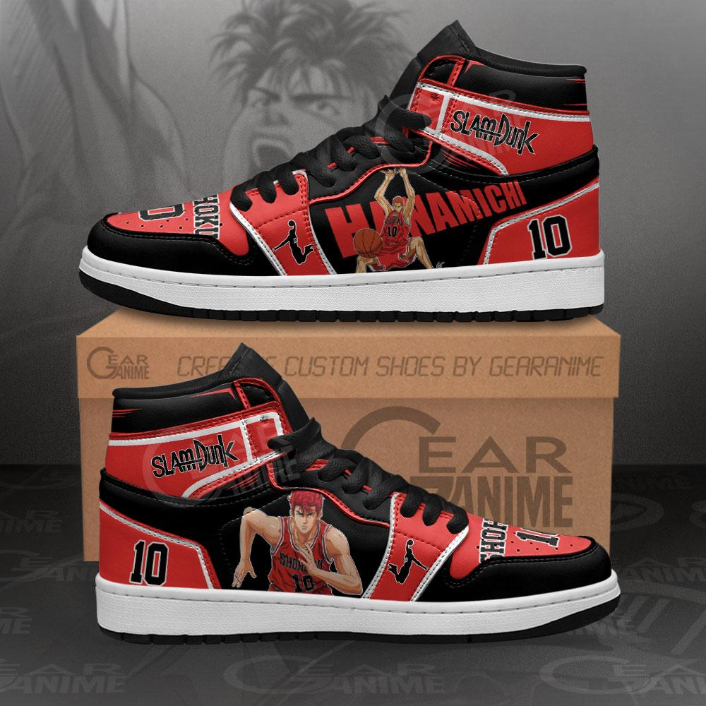 Hanamichi Sakuragi Sneakers Slam Dunk Anime Air Jordan Shoes