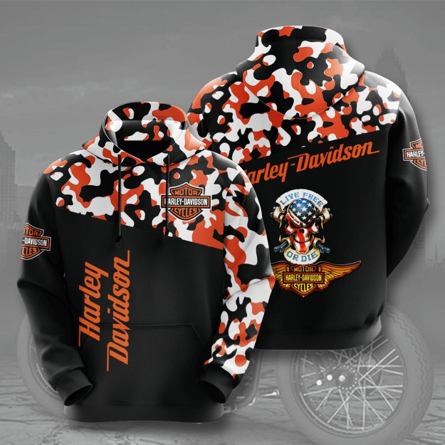 Harley Davidson No761 Custom Hoodie 3D