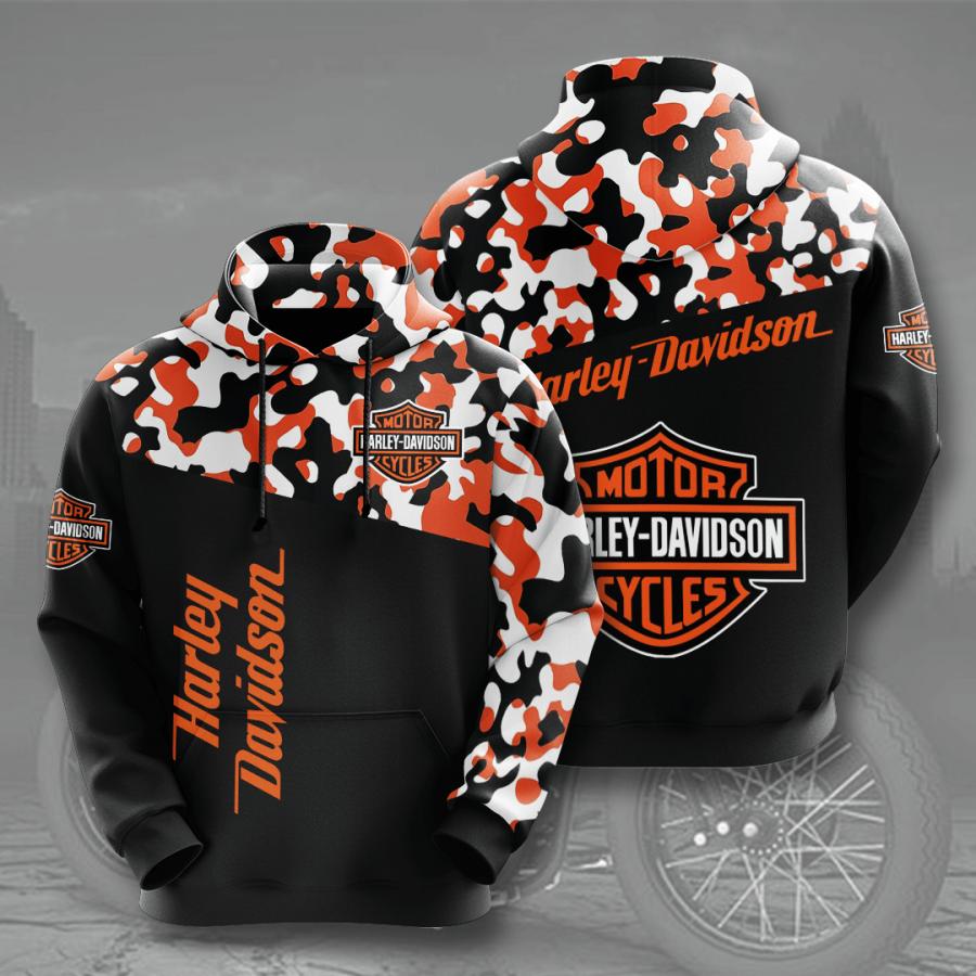 Harley Davidson No762 Custom Hoodie 3D