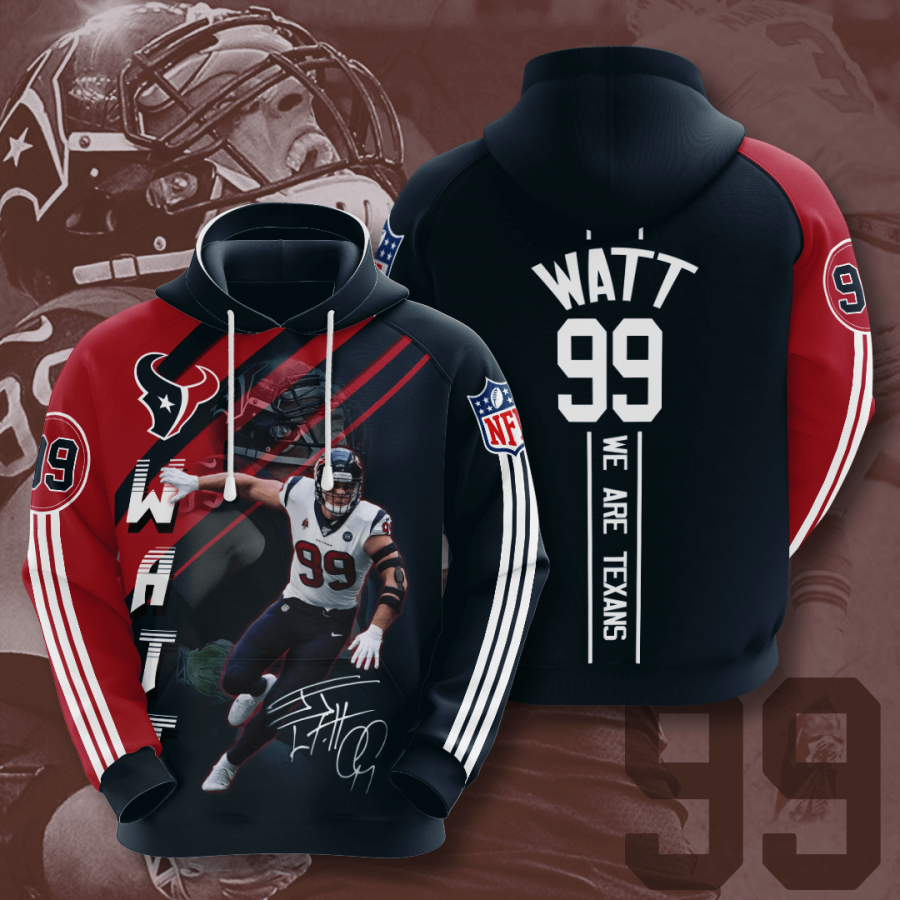 Houston Texans No793 Custom Hoodie 3D