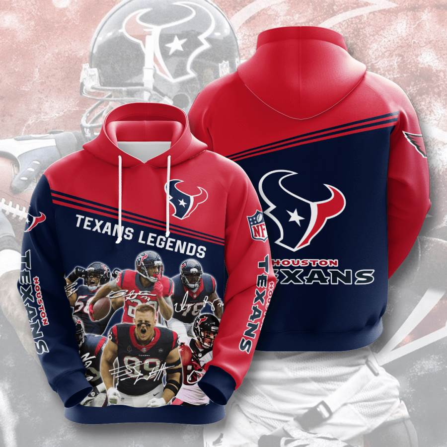 Houston Texans No806 Custom Hoodie 3D